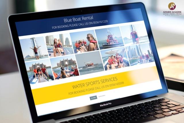 تصميم موقع الكتروني لشركة تأجير يخوت وقوارب داي أند نايت دبي الإماراتية